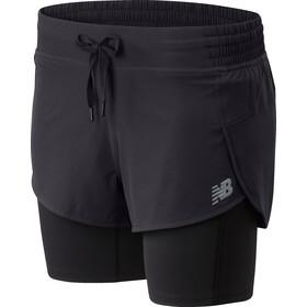 New Balance Impact Run 2in1 Shorts Women black